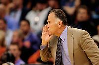 Dec. 3, 2010; Phoenix, AZ, USA; Indiana Pacers head coach Jim O'Brien against the Phoenix Suns at the US Airways Center. Mandatory Credit: Mark J. Rebilas-