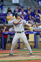 Georgia Bulldogs designated hitter Zach Bowers #16 at bat during the Southeastern Conference baseball game against the LSU Tigers on March 22, 2014 at Alex Box Stadium in Baton Rouge, La. The Tigers defeated the Bulldogs 2-1. (Andrew Woolley/Four Seam Images)