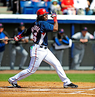 4 March 2009: Washington Nationals' center fielder Lastings Milledge in action during a Spring Training game against the New York Mets at Space Coast Stadium in Viera, Florida. The Nationals rallied to defeat the Mets 6-4 . Mandatory Photo Credit: Ed Wolfstein Photo