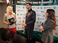 11-02-14, Netherlands,Rotterdam,Ahoy, ABNAMROWTT, Meet and greet with Dimitrov <br /> Photo:Tennisimages/Henk Koster