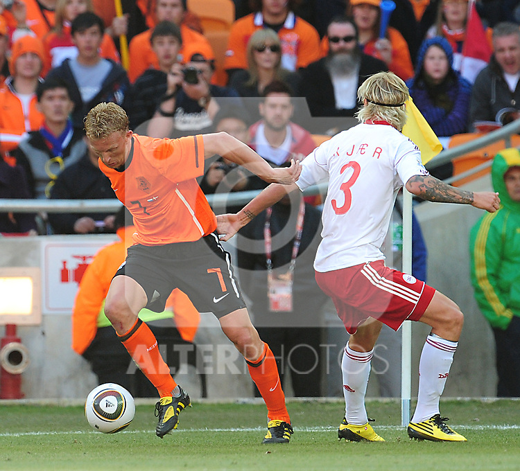 7 Dirk KUYT during the 2010 World Cup Soccer match between Denmark and Nederland played at Soccer City Stadium in Johannesburg South Africa on 14 June 2010.