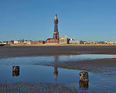 2011-03-18 Blackpool Beach & Piers low tide