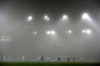 A loof fog in the air during the friendly match Slovenia against USA at the Stozice Stadium in Ljubljana, Slovenia on November 15th, 2011.