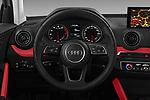 Car pictures of steering wheel view of a 2017 Audi Q2 Sport 5 Door SUV