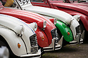 22/04/18<br /> <br /> Seventy-eight multi-coloured classic Citroen 2CVs celebrate the car's 70th birthday and 40 years of the British car club, 2CVGB, after driving (very slowly!) to Chatsworth House, Derbyshire.<br /> <br /> All Rights Reserved F Stop Press Ltd. +44 (0)1335 344240 +44 (0)7765 242650  www.fstoppress.com