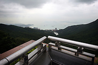 CHINA. Hong Kong. View from Hong Kong Island. Officially the Hong Kong Special Administrative Region, it is a territory located on China's south coast on the Pearl River Delta. It has a population of 6.9 million people, and is one of the most densely populated areas in the world. 2008