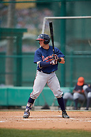 Atlanta Braves Brett Cumberland (71) during a minor league Spring Training game against the Detroit Tigers on March 25, 2017 at ESPN Wide World of Sports Complex in Orlando, Florida.  (Mike Janes/Four Seam Images)