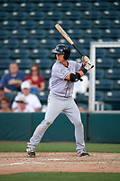 Jupiter Hammerheads right fielder Kyle Barrett (4) at bat during a game against the Fort Myers Miracle on April 9, 2017 at CenturyLink Sports Complex in Fort Myers, Florida.  Jupiter defeated Fort Myers 3-2.  (Mike Janes/Four Seam Images)