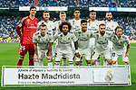 Players of Real Madrid line up and pose for a photo prior to the La Liga 2018-19 match between Real Madrid and CD Leganes at Estadio Santiago Bernabeu on September 01 2018 in Madrid, Spain. Photo by Diego Souto / Power Sport Images