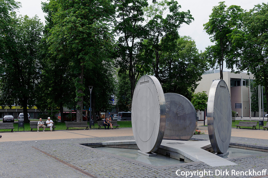 Plastik in Park in Siauliai, Litauen, Europa