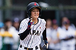 #52 Yoshii Harue of Japan runs after bating during the BFA Women's Baseball Asian Cup match between Japan and Hong Kong at Sai Tso Wan Recreation Ground on September 5, 2017 in Hong Kong. Photo by Marcio Rodrigo Machado / Power Sport Images