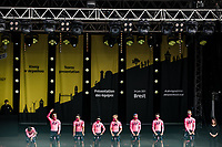 team EF Education-Nippo at the pre Tour teams presentation of the 108th Tour de France 2021 in Brest at le Grand Départ.