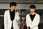 Song Kyung-Il and Jang Yi-Jeong (HISTORY), Aug 26, 2015 : South Korean pop group HISTORY attends the promotional event in Tokyo, Japan on August 26, 2015. (Photo by AFLO)
