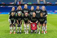 LE HAVRE, FRANCE - APRIL 13: The USWNT poses for a starting XI photo during a game between France and USWNT at Stade Oceane on April 13, 2021 in Le Havre, France.