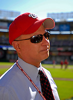 23 September 2007: Washington Nationals Owner Mark Lerner is interviewed prior to a game against the Philadelphia Phillies at Robert F. Kennedy Memorial Stadium in Washington, DC. The Nationals defeated the visiting Phillies 5-3 to close out the 2007 home season and the final game in baseball history at RFK Stadium. The Nationals will open up the 2008 season at Nationals Park, their new facility currently under construction.. .Mandatory Photo Credit: Ed Wolfstein Photo