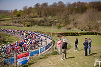 peloton up the Bemelenberg <br /> <br /> 55th Amstel Gold Race 2021 (1.UWT)<br /> 1 day race from Valkenburg to Berg en Terblijt; raced on closed circuit (NED/217km)<br /> <br /> ©kramon