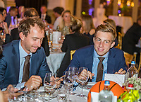 The Hague, The Netherlands, September 13, 2017,  Sportcampus , Davis Cup Netherlands - Chech Republic, Official Dinner, Matwe Middelkoop (NED) and Tallon Griekspoor (R)<br /> Photo: Tennisimages/Henk Koster