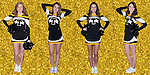 The 2014-15 Tuscola Warrior Cheerleader Seniors. From left are Lily Hale, Kota Little, Maria Meyer, and Sidney Stuart.