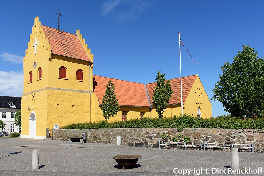 Kirche von Allinge auf der Insel Bornholm, Dänemark, Europa<br /> Church of Allinge, Isle of Bornholm, Denmark