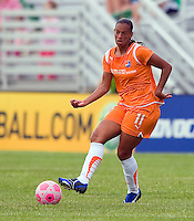 Sky Blue FC  midfielder Rosana (11) works the ball during a WPS match at Anheuser-Busch Soccer Park, in St. Louis, MO, June 7, 2009. Athletica won the match 1-0.
