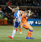 09.02.2019: Kilmarnock v Rangers : Alan Power catches Ryan Jack on the head with a high boot