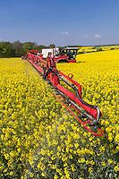 Spraying OSR in flower - Suffolk, May