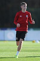 David Brooks of Wales in action during the Wales Training Session at The Vale Resort in Cardiff, Wales, UK. Monday 12 November 2018