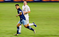CARSON, CA - OCTOBER 18: Fredy Montero #12 of the Vancouver Whitecaps moves with the ball looking for an open man during a game between Vancouver Whitecaps and Los Angeles Galaxy at Dignity Heath Sports Park on October 18, 2020 in Carson, California.