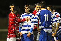 Tempers flare during the first half - Clapton vs Ilford - Essex Senior League Football at the Old Spotted Dog Ground, Upton Park, London - 01/10/13 - MANDATORY CREDIT: Gavin Ellis/TGSPHOTO - Self billing applies where appropriate - 0845 094 6026 - contact@tgsphoto.co.uk - NO UNPAID USE