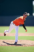 Baltimore Orioles pitcher Parker Bridwell (99) during an Instructional League game against the Boston Red Sox on September 22, 2016 at the Ed Smith Stadium in Sarasota, Florida.  (Mike Janes/Four Seam Images)
