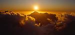 Sunset over the Karangarua Mountains in Westland National Park. New Zealand.