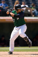 Charlotte Knights catcher Gustavo Molina stands in at the plate versus the Indianapolis Indians at Knights Stadium in Fort Mill, SC, Sunday, August 13, 2006.