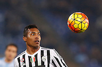 Calcio, Serie A: Lazio vs Juventus. Roma, stadio Olimpico, 4 dicembre 2015.<br /> Juventus' Alex Sandro eyes the ball during the Italian Serie A football match between Lazio and Juventus at Rome's Olympic stadium, 4 December 2015.<br /> UPDATE IMAGES PRESS/Riccardo De Luca