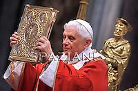 Feast of Saint Peter and Saint Paul Benedict XVI mass at St Peter's basilica. June 29, 2010