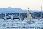 Race to Alaska, human powered, wind powered, all class, boat race, Port Townsend to Ketchikan, first leg, racers depart Port Townsend for Victoria, British Columbia,  June 4, 2015, Strait of Juan de Fuca, endurance racing,