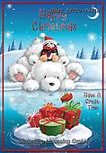 John, CHRISTMAS ANIMALS, WEIHNACHTEN TIERE, NAVIDAD ANIMALES, paintings+++++,GBHSSXC50-1444B,#xa# ,ice bear,polar bear