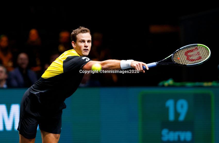 Rotterdam, The Netherlands, 12 Februari 2020, ABNAMRO World Tennis Tournament, Ahoy. Vasek Pospil (CAN).<br /> Photo: www.tennisimages.com