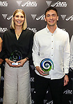 Jacob Smith and Olivia Merry. Hockey New Zealand Awards, Millennium Institute, Auckland, New Zealand. Friday 30 April 2021 Photo: Simon Watts/www.bwmedia.co.nz