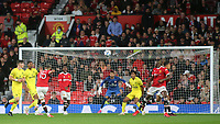 Andreas Pereira scores Manchester United's second goal with a spectacular long range shot during Manchester United vs Brentford, Friendly Match Football at Old Trafford on 28th July 2021