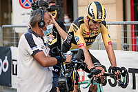an exhausted Wout Van Aert (BEL/Jumbo-Visma) wins 'La Primavera' (Spring) in summer!<br /> <br /> 111st Milano-Sanremo 2020 (1.UWT)<br /> 1 day race from Milano to Sanremo (305km)<br /> <br /> the postponed edition > exceptionally held in summer because of the Covid-19 pandemic calendar reshuffle