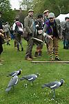 The Tweed Run London UK. Cordings throw a tweed flat cap event. Tea Stop.