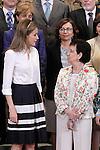 Princess Letizia of Spain attends audiences.May 8,2014. (ALTERPHOTOS/Acero)