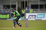 Andrew Balbairne batting as the rain drops start to fall at the Ireland v England One Day Cricket International held at Malahide Cricket Club, Dublin, Ireland. 8th May 2015.<br /> Photo: Joe Curtis/www.newsfile.ie