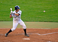 7 July 2008: Vermont Lake Monsters' infielder James Keithley in action against the Batavia Muckdogs at Centennial Field in Burlington, Vermont. The Lake Monsters defeated the Muckdogs 3-2 in the final game of their 3-game series...Mandatory Photo Credit: Ed Wolfstein Photo