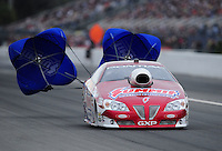 Mar. 11, 2012; Gainesville, FL, USA; NHRA pro stock driver Greg Anderson during the Gatornationals at Auto Plus Raceway at Gainesville. Mandatory Credit: Mark J. Rebilas-