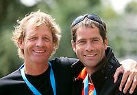 17-06-10, Tennis, Rosmalen, Unicef Open, Coach Glen Schaap with tennis journalist Coen Veemer(L)