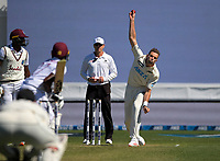 NZ's Tim Southee bowls during day two of the second International Test Cricket match between the New Zealand Black Caps and West Indies at the Basin Reserve in Wellington, New Zealand on Friday, 11 December 2020. Photo: Dave Lintott / lintottphoto.co.nz