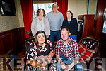 Andrew Duggan and Maura Barrett from Ballyheigue celebrating their engagement in the Grand Hotel on Friday. Seated l to r: Andrew Duggan and Maura Barrett. Standing l to r: Mary and Joe Barrett and Noelle Duggan