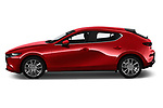 Car Driver side profile view of a 2019 Mazda Mazda3 Skydrive 5 Door Hatchback Side View
