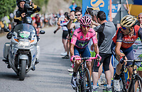 Vincenzo Nibali (ITA/Bahrain-Merida) & Nairo Quintana (COL/Movistar) up the Foza climb (1086m)<br /> <br /> Stage 20: Pordenone › Asiago (190km)<br /> 100th Giro d'Italia 2017
